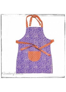 Adult Apron - Purple Batik