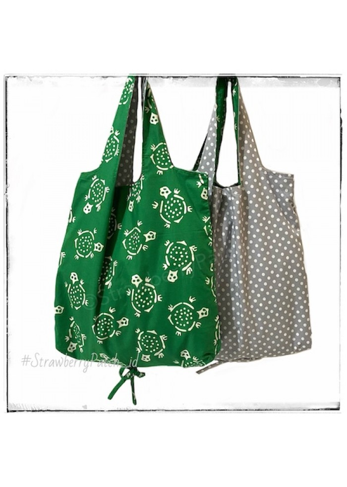 Shopping Bag - Green Turtle (Double)