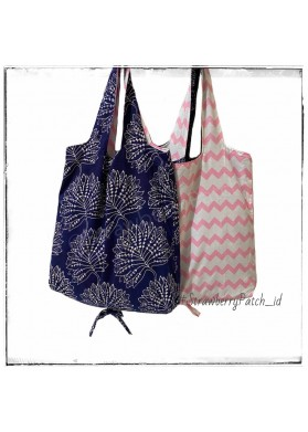 Shopping Bag - Blue Leaves (Double)