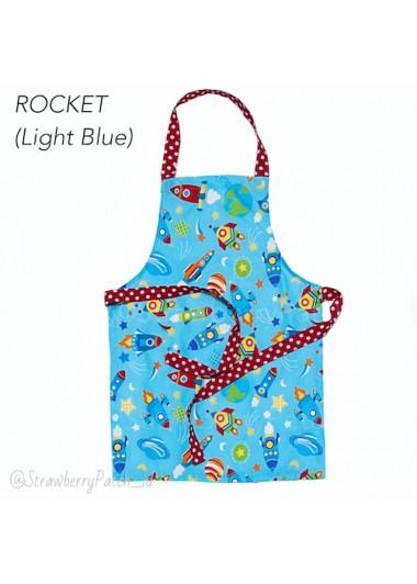 Kids Apron - Rocket Light Blue (L)
